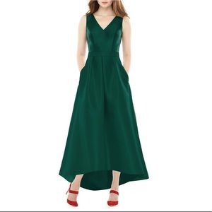 NWT ALFRED SUNG High/Low Sateen Twill Gown